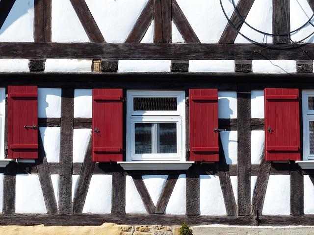 昔ながらの伝統的な家