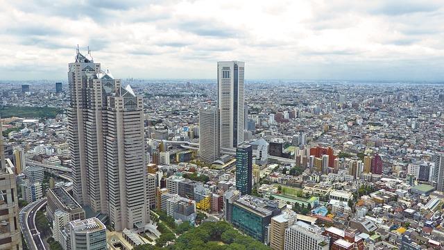 大都会の東京の街並み