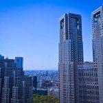 東京都庁が映える街並みアングル