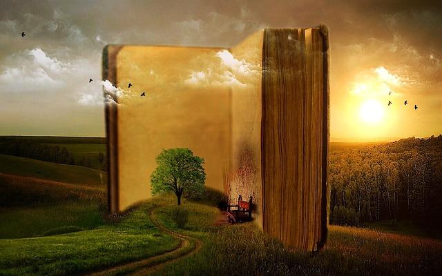 自然を包み込む巨大な本