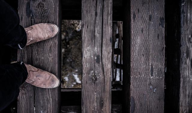 靴を履いた状態での足のつま先
